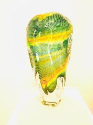 Magma Artglas - Konstglas Tung Vas design Dan Clausen