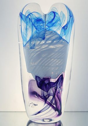 1100 Grader - Konstglas - The Lace Heart unikat design Malin Tehagen