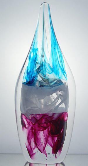 1100 Grader - Konstglas - 3x3D Big Drop Pastell design Malin Tehagen
