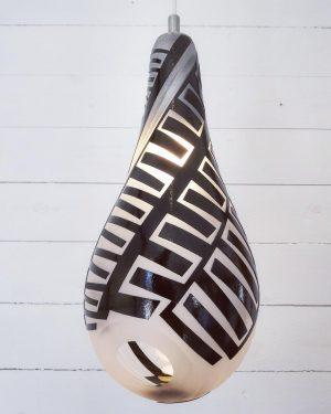Lampor / Taklampa - Spiral - glas överfång design Betina Huber