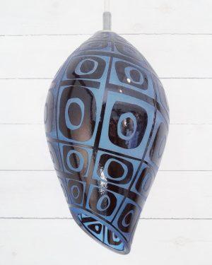 Lampor / Taklampa - Vibration - glas överfång design Betina Huber