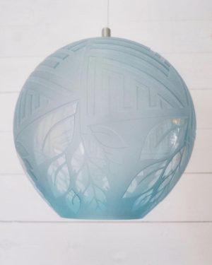 Lampor / Taklampa - Blue Light - glas unikat design Betina Huber