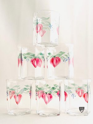 Orrefors - Maja - 6 st Whisky / Selter glas Design Eva Englund