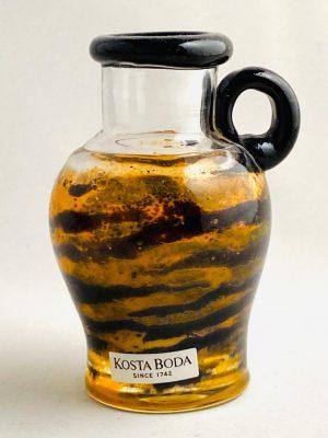 Kosta Boda - Tiger Miniatyr Karaff signerad design Kjell Engman