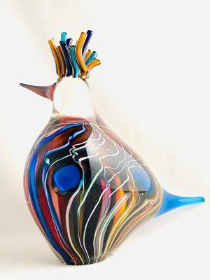 Stockholms Glasbruk Skansen - Konstglas - Största fågel Design Martin Ehrensvärd