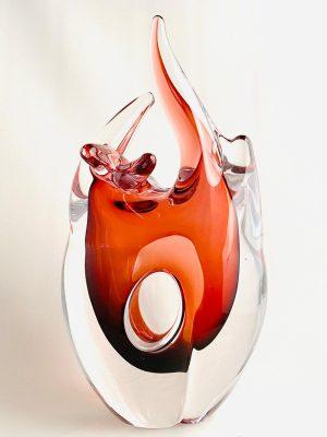 Stockholms Glasbruk Skansen - Konstglas - Heart Design Aleksandra Pavlenkova