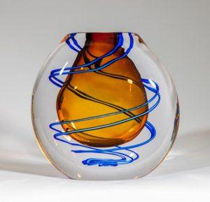 Stockholms Glasbruk Skansen - Optisk Vas Design Martin Ehrensvärd