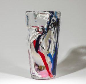 Stockholms Glasbruk Skansen - Unikat - Randig Vas Design Martin Ehrensvärd