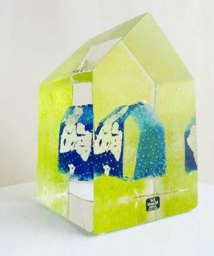 Vas Vitreum - House - Clear Cut - unikat design Mikael Kenlind