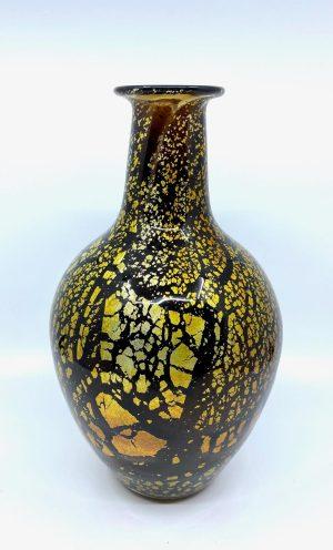 Gyllene Tider - Konstglas Hög Vas - Champagne Unik design Robert Oldergaarden