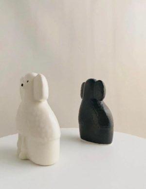 Gustavsberg- Figurin - Kennel - Pudel Poodle - design Lisa Larson