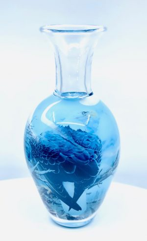 Oldergaard - Graal - Havsörn blå - Unikat design Robert Oldergaarden