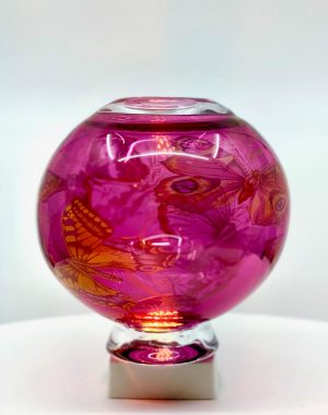 Oldergaard - Graal - Butterfly rosa - Unikat design Robert Oldergaarden