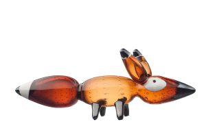 Iittala - Vulpes Röd räv / Red fox Design Klaus Haapaniemi