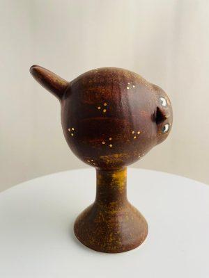 Gustavsberg - Fenix - Fågeln Tekla brun design Lisa Larson