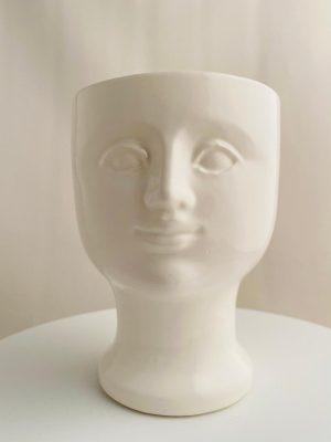 Gustavsberg - Vaser - Ansikts vas Vit design Lisa Larson