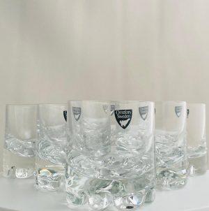 Orrefors - Erik - 6 st Whisky glas Design Olle Alberius