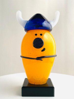 Skruf - Noaks Ark - Vikingen Orange Signerad design Eva-Lena Martinson