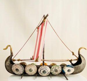 Oldergaard - Vikinga skepp - fat - Limiterat Unikat design Robert Oldergaarden