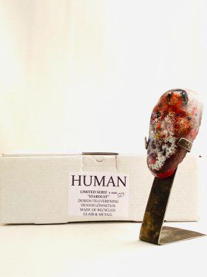 Glasprinsen - Stardust - Human - Nr 50 limiterat 100 Ex design Dennis Lönnetun