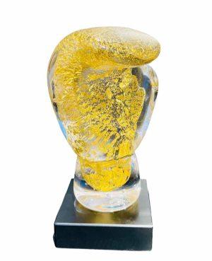 Glasprinsen - World Champion / 24 Carat Guld Boxningshandske Design Oldergaarden